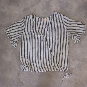 Hollister Wrap Around Stripe Blouse NWOT